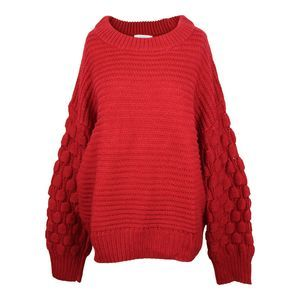 Elodie Bubble Sleeve Pullover Sweater XL NWT $40